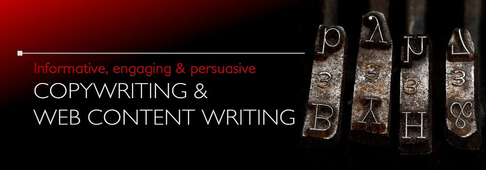 Copywriting website content